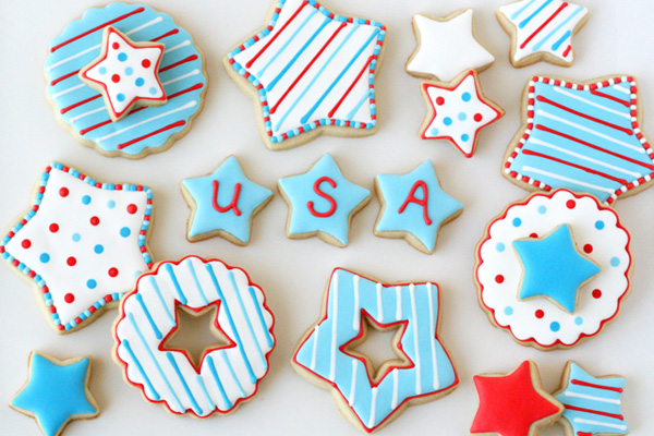 4th of July star cookies by Glorious Treats