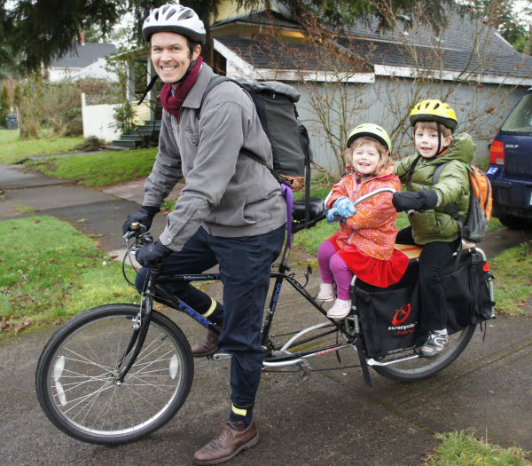 Babes on Bikes: Dad with passengers