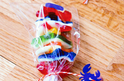 Homemade gummy skewers by Hostess with the Mostess