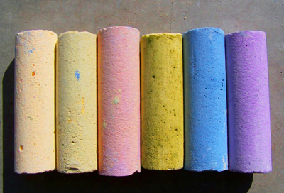 Homemade sidewalk chalk by Mad Maggie Designs
