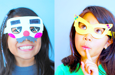 Homemade paper glasses by Giddy Giddy on BKids Crafts