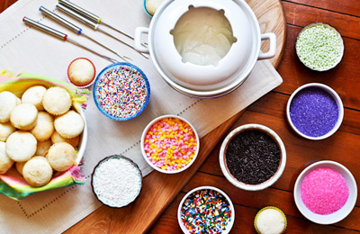 Cupcake fondue by How Sweet It Is