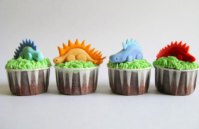 Dinosaur birthday cupcakes by A Baked Creation