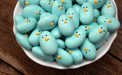 Jordan almond Easter bluebirds by Sweet Sugarbelle