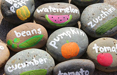 Rock garden markers by Lu Bird Baby