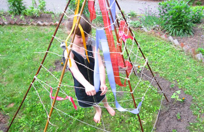 Garden teepee for kids by The Artful Parent