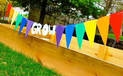 Garden bunting by Inner Child Fun