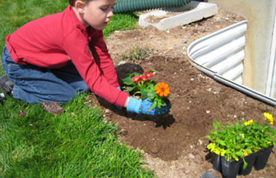 Planting a rainbow garden with kids by Make and Takes
