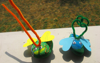 Garden rock bugs for kids by No Time for Flash Cards