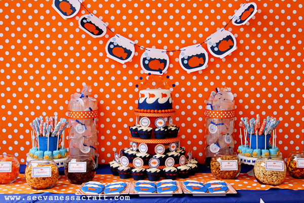 Kids' goldfish birthday party by See Vanessa Craft
