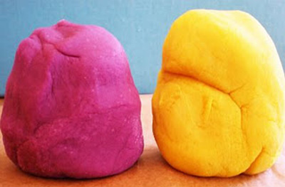 Homemade play dough by One Golden Apple
