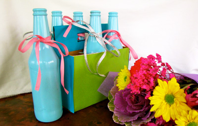 Mother's Day gift Bottle vases by Creekside Learning