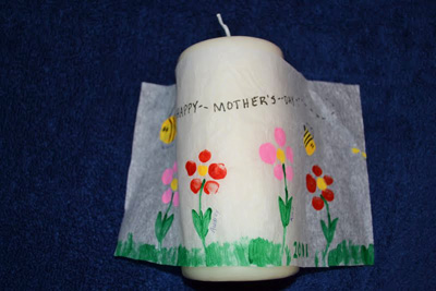 Mother's Day gift fingerprint candle by Come Together Kids