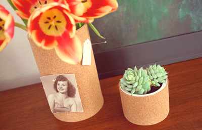 Mother's Day gift cork vases by papernstitch