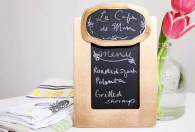 Mother's Day gift Chalkboard menu by Momtastic