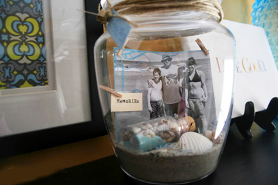 Mother's Day gift vacation memory jar by Echoes of Laughter