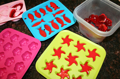 Homemade gummy candy by Pink and Green Mama