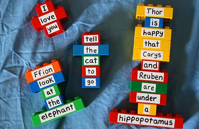 Homemade Lego word games by Filth Wizardry