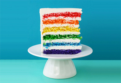 Rainbow birthday cake by Whisk Kid