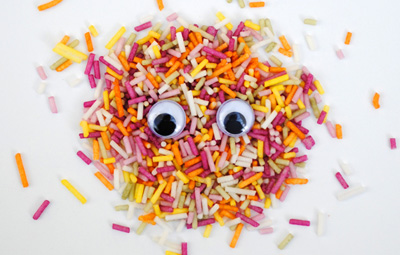 """Eye-bombing"" craft for kids by Mini-eco"