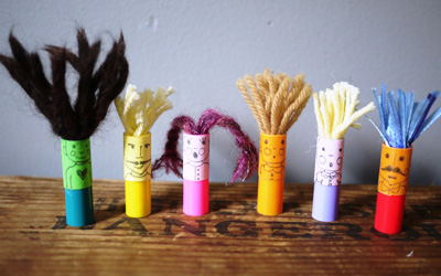 Homemade marker finger puppets by The Handmade Adventures of Captain Crafty