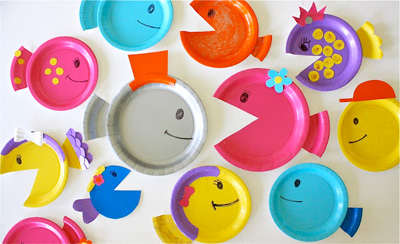 Paper plate fish by MADE