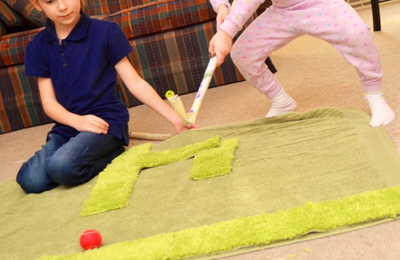 Indoor carpet golf for kids by Inner Child Fun