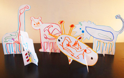 Pop-up paper zoo for kids by TinkerLab