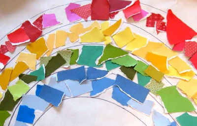 St. Patrick's Day DIY Rainbow Collage by No Time For Flash Cards