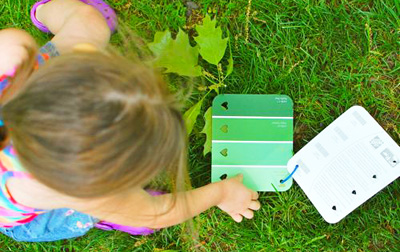 DIY outdoor color match game for kids by Inner Child Fun