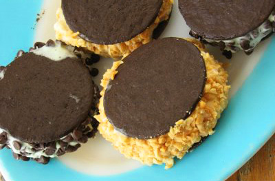 Ice cream sandwiches by Plum Pudding