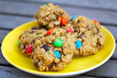 Gluten-free monster cookies by Cooking with My Kid