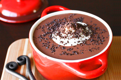 Valentine's Day chocolate soup by Sprinkle Bakes