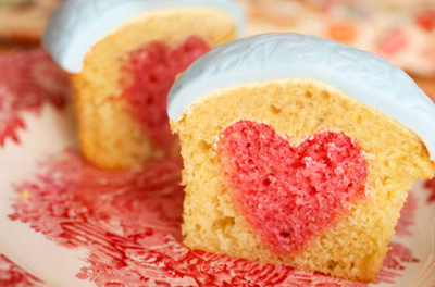 Valentine's Day heart cupcakes by Made with Love
