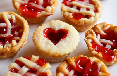Valentine's Day mini cherry pies by Bakerella