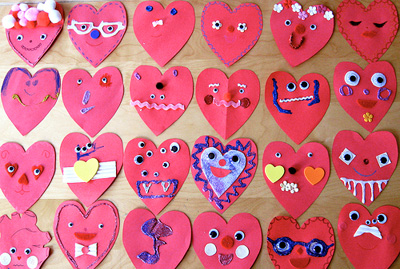 Valentine's Day heart people cards by My Paper Crane