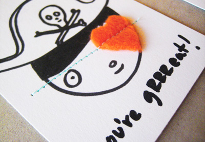 Homemade pirate Valentine's Day card by Mer Mag