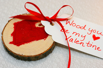 Wooden Valentine's Day cards by Mustard Seeds