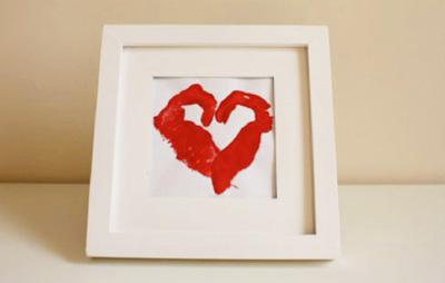 Valentines Day Handprint Heart By Bkids Crafts