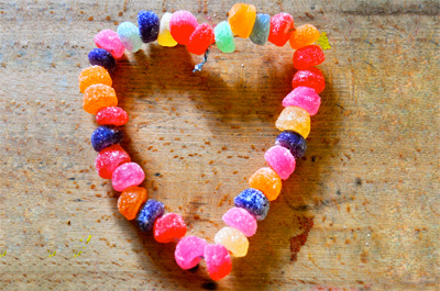 Valentine's Day homemade candy necklaces by Se7en