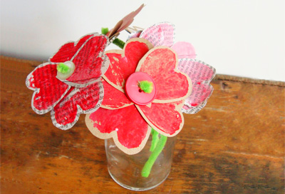 Valentine's Day heart flower bouquets by Maya*Made