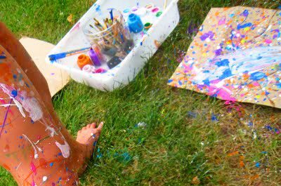 Jackson Pollock Art for kids by Good + Happy Day