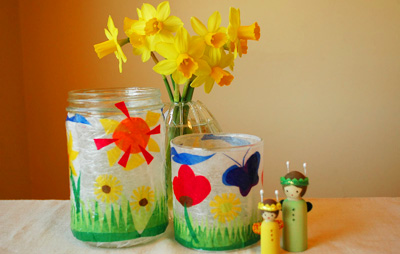 Spring flower lanterns by We Bloom Here