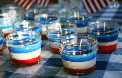 4th of July citronella candles by Alpha Mom