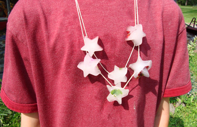 4th of July star ice necklaces by Maya * Made
