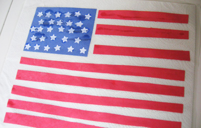 4th of July flag craft for kids by No Time for Flash Cards