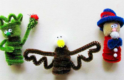 4th of July finger puppets by Craft Jr.