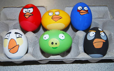 Angry Birds Easter eggs on Craftzine