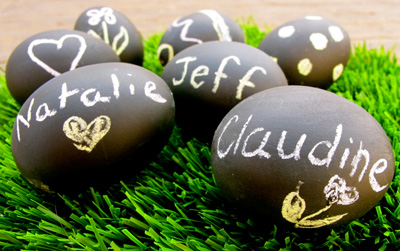 Chalkboard Easter eggs by Claudine Gervais