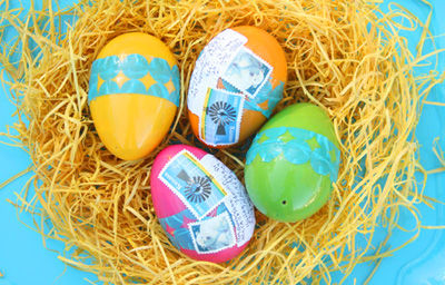 Mailable plastic Easter egg gifts by Giver's Log